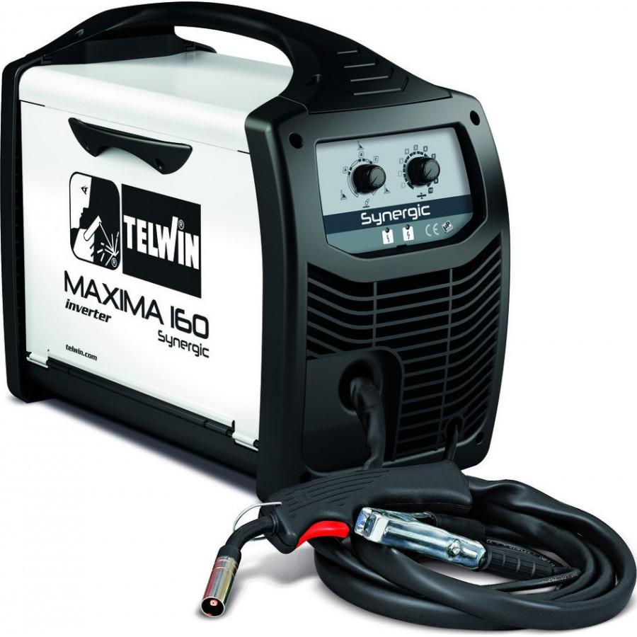 Ηλεκτροκόλληση Inverter σύρματος 150Α MIG-MAG/FLUX MAXIMA 160 Synergic TELWIN