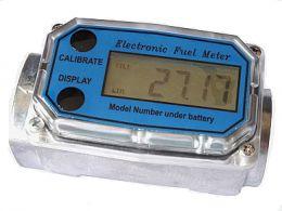 Μετρητής πετρελαίου 1 1/2 ηλεκτρονικός επαγγελματικός με μεταλλικό σώμα 38-380 λίτρων 20 bar