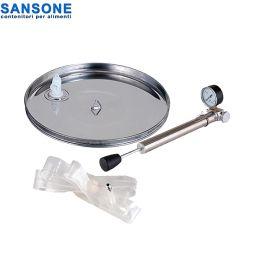 SANSONE 580mm -  Καπάκι Inox πνευματικό - πλωτήρας