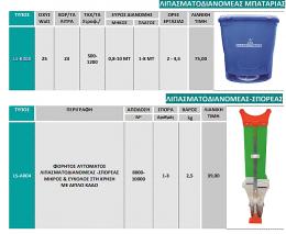 Λιπασματοσιανομέας-σπορέας-αλατιέρα