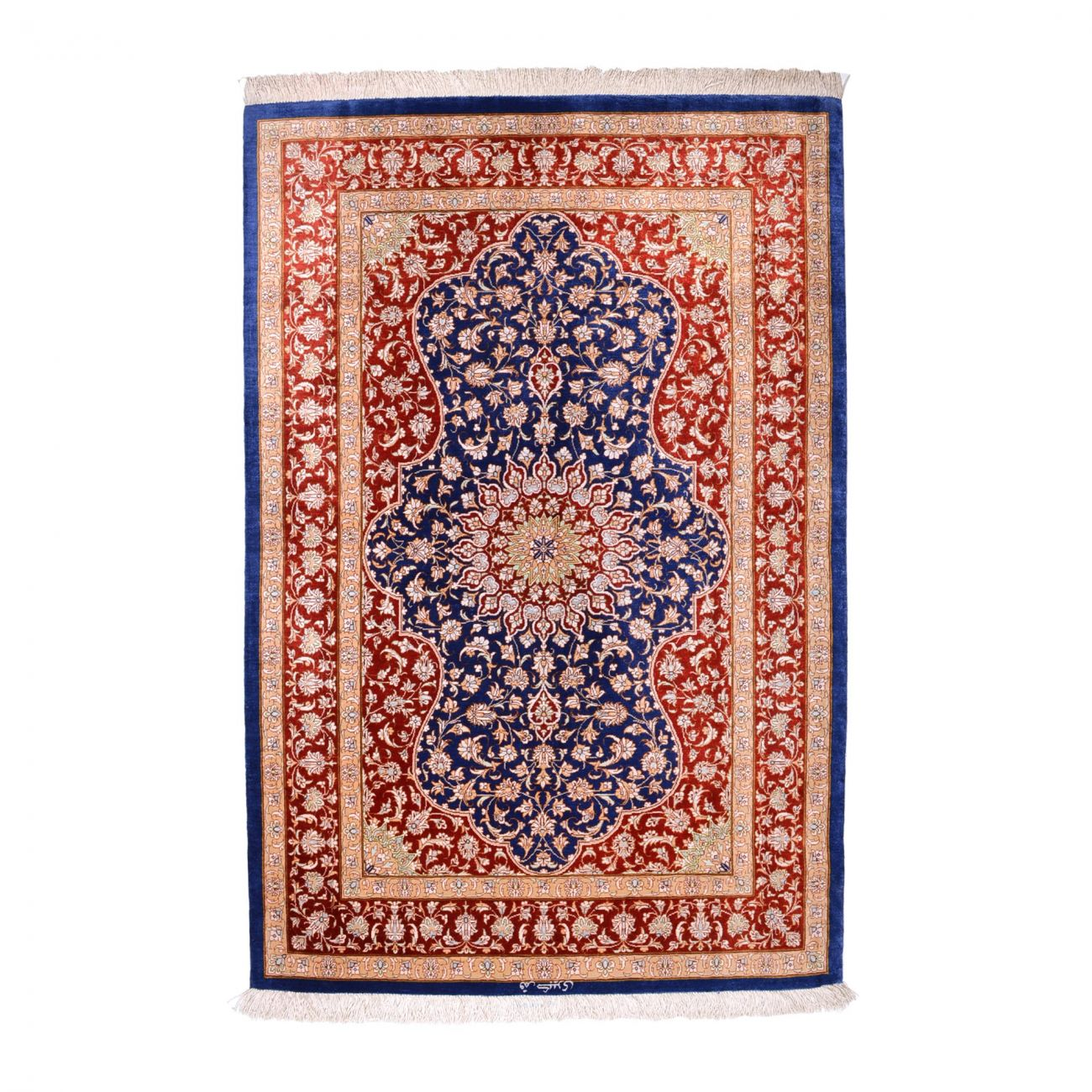 Ghom Seide 143 x 97 cm Persian Rug
