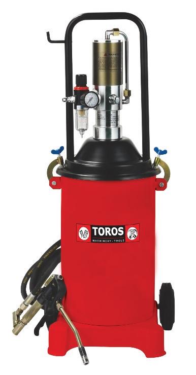 Γρασσαδόρος τροχήλατος με αντλία αέρος Toros TC211H 18 lit