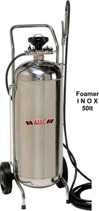 Τροχήλατος αφροποιητής 50lt με INOX κάδο κατάλληλος για βιοτεχνίες τροφίμων, πλυντήρια αυτοκ/των made in Italy
