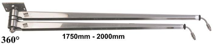Περιστρεφόμενα μπράτσα ΙΝΟΧ 1750-2000mm MTM ITALY