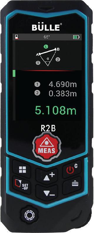 Μετρητής αποστάσεων (Laser) 60m Bulle 3 Σε 1 (Αλφάδι/Μέτρηση απόστασης με τροχό) R2B