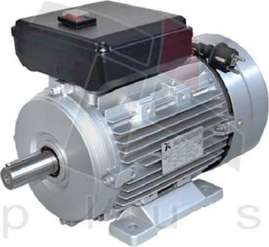 Ηλεκτρικός κινητήρας μονοφασικός αλουμινίου με διακόπτη καλώδιο και φις 2800 στροφών 1,5 hp