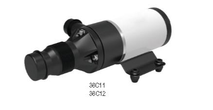 Αντλία επιφάνειας πλαστική με λαστιχένια φτερωτή 12V λυμάτων με κοπτήρα αυτόματου αναρροφήσεως