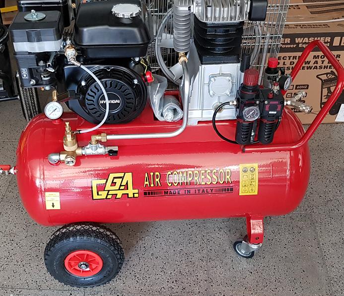 Κλαδευτικό συγκρότημα αέρος βενζινοκίνητο με επιταχυντή στροφών 100Lt φιλτρολαδικό με ανέμη