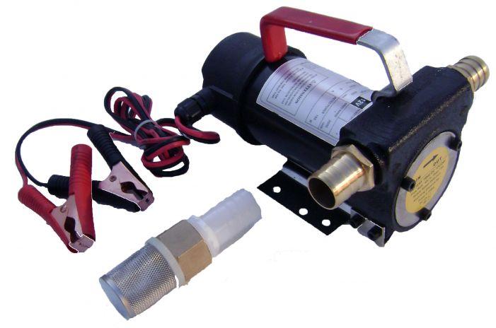 Αντλία μετάγγισης πετρελαίου με by-pass πτερυγιοφόρα 0.25hp 12V και 0.5hp 24V διπλής επιλογής volt