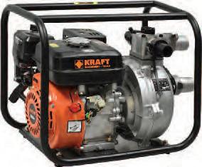 """Αντλία Kraft βενζινοκίνητη πυρόσβεσης 2"""" υψηλού πίεσης και μανομετρικού"""