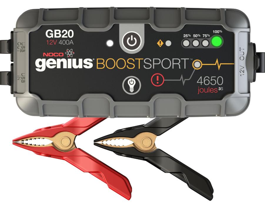 UltraSafe Εκκινητής Οχημάτων Μηχανημάτων NOCO genius Boost Sport GB20 12V 400A