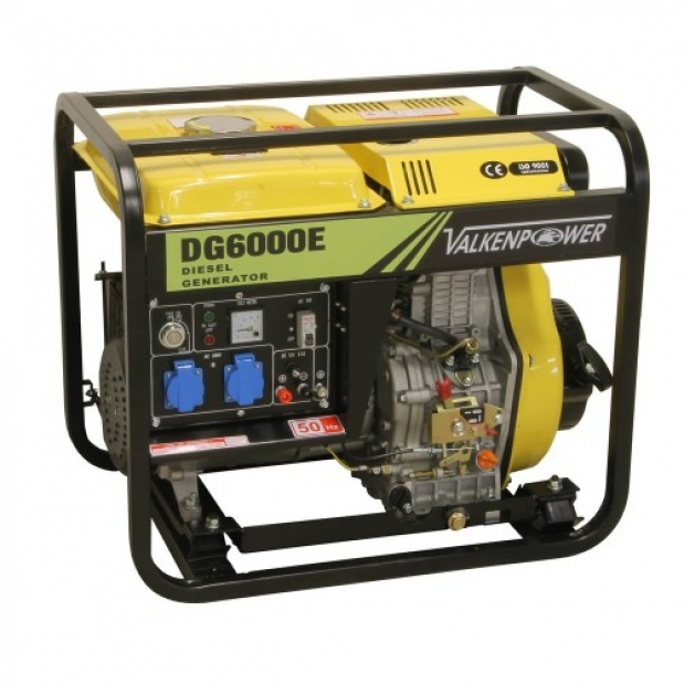 Γεννήτρια πετρελαίου 5KVA 230V 50Hz Valkenpower DG6000