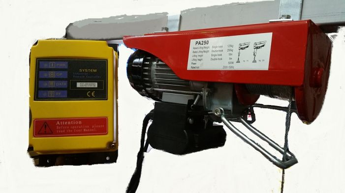 Παλάγκο γερανάκι ηλεκτρικό ασύρματο 125 - 250 kg 18M