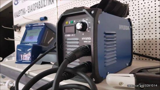 Ηλεκτροκόλληση  Inverter MMA-201DC (220V) Hyundai κατάλληλη και για γεννήτρια