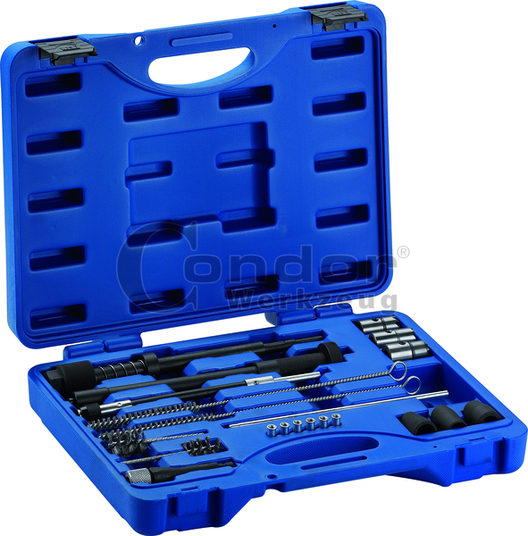 Injector Sealing Seat and Shaft Cleaning Set for diesel injectors - also on many vans and trucks