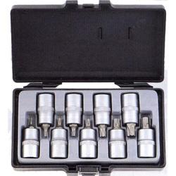 Κασετίνα Καρυδάκια Torx Αρσενικά ½ 9 τεμ. T20-T60 Force