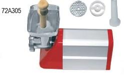 Ηλεκτρική μηχανή αλέσεως κιμά-λουκάνικου  Ιταλίας(WATT225)  με ανοξείδωτο δοχείο και κόσκινο Ø6  παραγωγή 20 kg/h