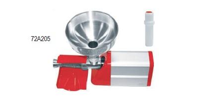 Μηχανή αλέσεως ντομάτας Ιταλίας  ηλεκτρική (WATT 225) με ανοξείδωτο δοχείο και πλαστικό συλλέκτη παραγωγη 150kg/h