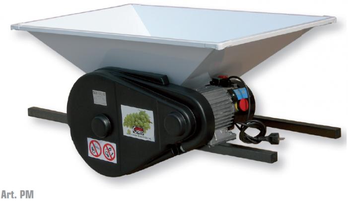 Σπαστήρας ηλεκτροκίνητος Grifo PPM 1hp 220v με κυλίνδρους - αναδευτήρα - κοχλία 50x80 1500kg/hour