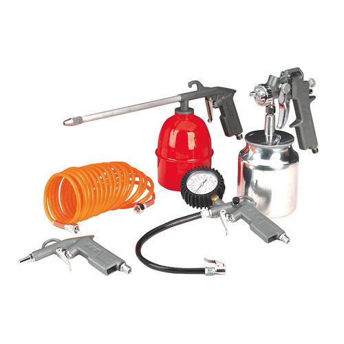Σετ εργαλείων, πετρελιέρα, αερόμετρο, πιστόλι βαφής, φυσητήρας σπιράλ.