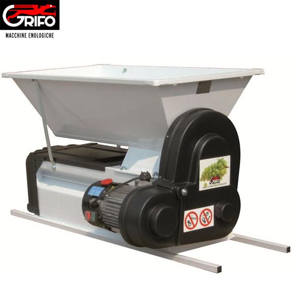 Σπαστήρας σταφυλιών ηλεκτροκίνητος Grifo DMC με διαχωριστήρα - κυλίνδρους - αναδευτήρα - κοχλία 90x50 1500kg/hour