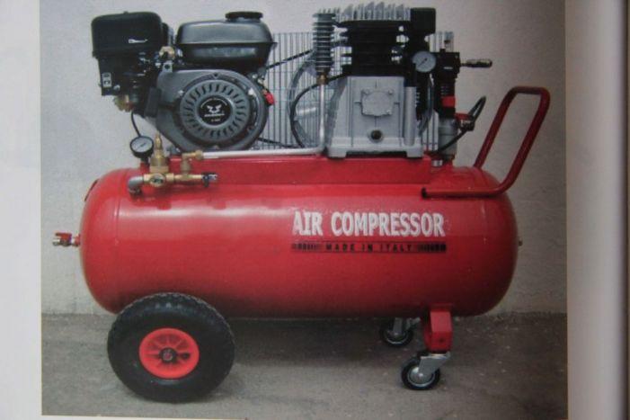 Βενζινοκίνητος αεροσυμπιεστής με επιταχυντή, κινητήρας HONDA 5,5hp, 100lt