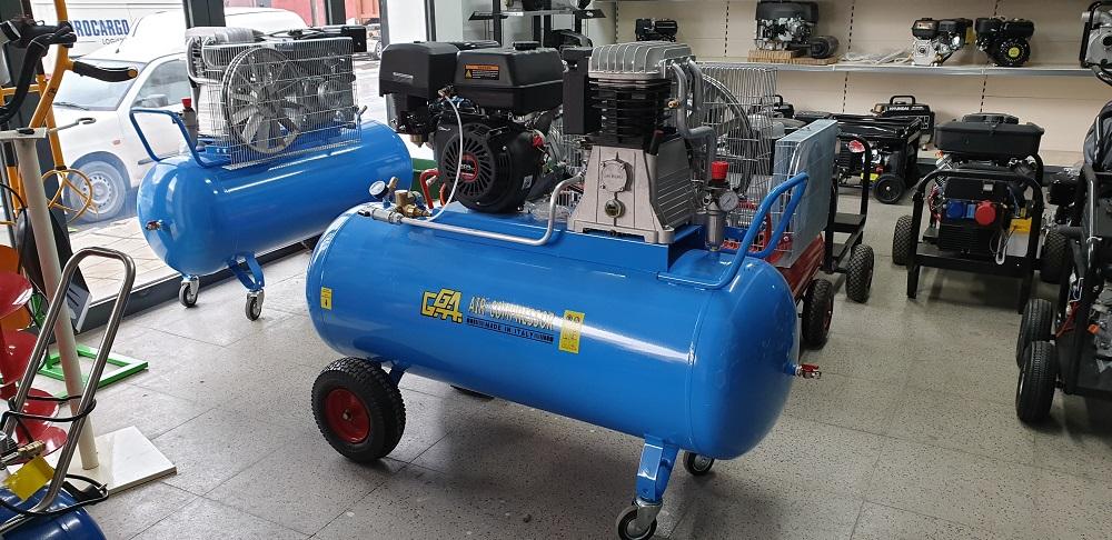 Βενζινοκίνητος αεροσυμπιεστής ιταλίας GGA με επιταχυντή 830lit/min κινητήρας 15hp Hyundai 270lt
