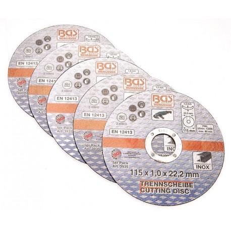 Δίσκοι κοπής INOX σετ 5 τεμαχίων