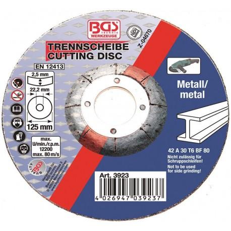 Δίσκος κοπής μετάλλου 125 x 2.5mm