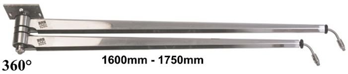 Περιστρεφόμενα μπράτσα ΙΝΟΧ 1600-1750mm MTM ITALY