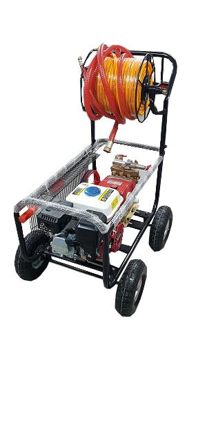 Ψεκαστικό 40bar 36lit/min με βενζινοκινητήρα 6.5HP FARMATE TF45RH και λάστιχο 50 μέτρων