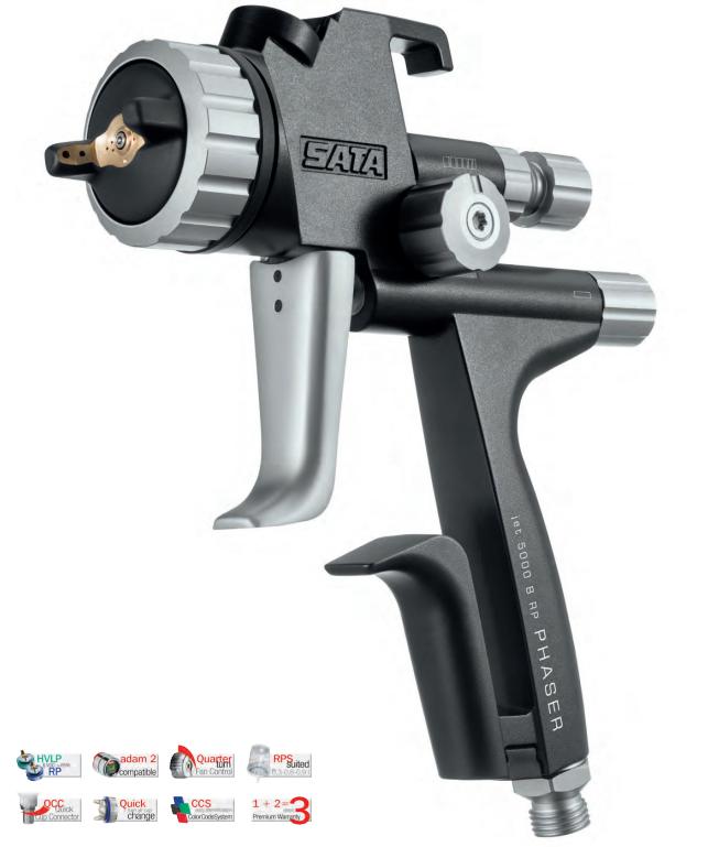 Sata - Πιστόλι Βαφής Άνω Δοχείου Satajet 5000 B Phaser HVLP