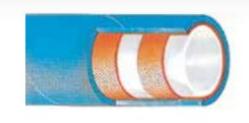 Σωλήνας  ελαστικός τροφίμων KREMA D - 10 bar - 1/2 inch - γάλακτος λιπαρών , ελαιώδη , με λινά 40m