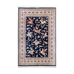 Qom Silk 198 x 128 cm Persian Rug