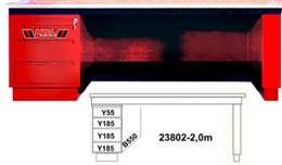 ΠΑΓΚΟΣ ΕΡΓΑΣΙΑΣ ΜΕ ΕΝΑ ΚΟΜΟΔΙΝΟ ΕΝΑ ΠΟΔΙ 2,0m, AXEL 23802