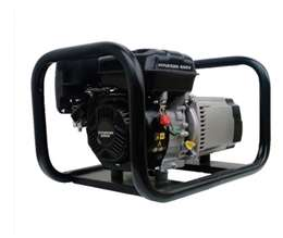 HYUNDAI Ηλεκτροπαράγωγο Ζεύγος 220V Βενζίνης Τετράχρονο 3,5 KVA με LINZ Γεννήτρια Σχοινί 3500