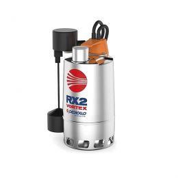 Αντλία ακαθάρτων - λυμάτων ανοξείδωτη με μαγνη PEDROLLO RXm Vortex 4/40-GM τικό φλοτερ 1hp