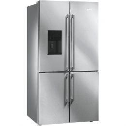 Ψυγείο ντουλάπα Inox με παγομηχανή Smeg FQ75XPED