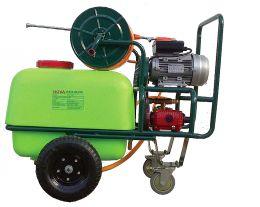 Ψεκαστικό τροχήλατο με κινητήρα 3 hp NOVA αντλία εμβολοφόρα 80 λίτρων