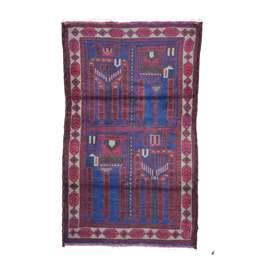 Beluch 138 x 86 cm Wool Afghan Rug