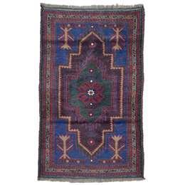 Beluch 133 x 83 cm Wool Afghan Rug