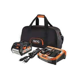 AEG - SETL1850BLK Set Μπαταρία 18V 5.0Ah - Ταχυφορτιστής - Σάκο