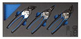 Ψαλίδια κοπής λαμαρίνας mini σετ 3 τεμαχίων