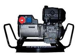 Hλεκτροπαράγωγα ζεύγη πετρελαίου 3000 στροφών μονοφασικά με σταθεροποιητή τάσης 7Kva 12Hp με μίζα
