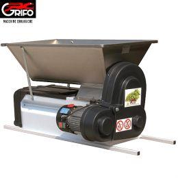 Σπαστήρας ηλεκτροκίνητος Grifo DMCSI semi Inox με διαχωριστήρα - κυλίνδρους - αναδευτήρα - κοχλία 90x50 1500kg/hour