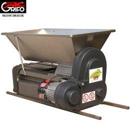Σπαστήρας ηλεκτροκίνητος Grifo DMCI Inox special με διαχωριστήρα - κυλίνδρους - αναδευτήρα - κοχλία 90x50 1500kg/hour