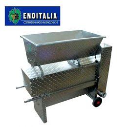 Σπαστήρας Ηλεκτρικός Enoitalia με Διαχωριστήρα & Αντλία Eno 20 Inox (2,0 hp)