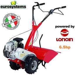 Φρέζα σκαπτικό - μοτοκαλιεργητής βενζίνης eurosystem με κινητήρα LONCIN 6,5Hp