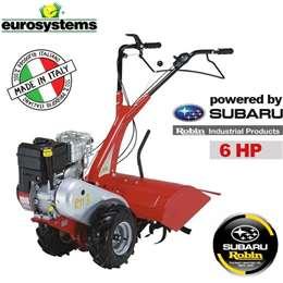 Φρέζα σκαπτικό - μοτοκαλιεργητής βενζίνης eurosystem με κινητήρα SUBARU ROBIN, 6Hp