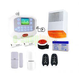 GSM Πλήρες σύστημα συναγερμού με 5 επαφές, 4 ραντάρ, 2 σειρήνες και 2 τηλεχειριστήρια